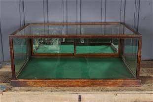 Tabletop Oak and Glass Display Case