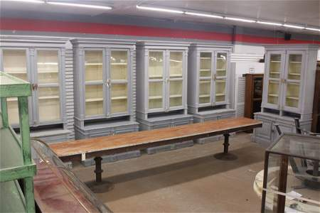 Suite of 5 Matched Antique Continental Bookcases