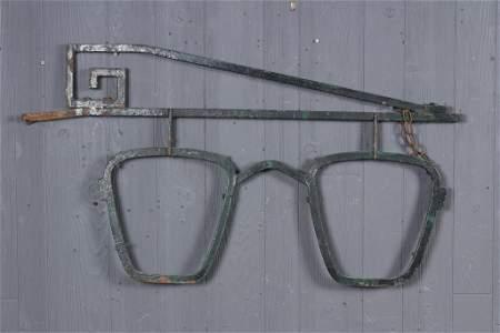 Wrought Iron Optometrist Trade Sign