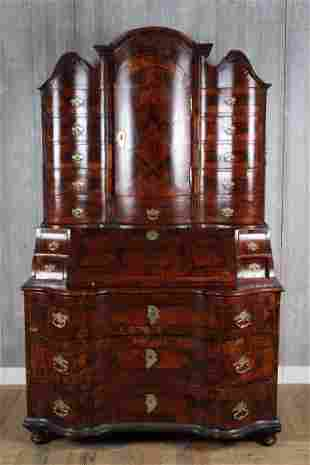 Late 18th C Continental Marquetry Secretary