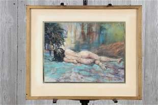 Len Garon American b1945 Pastel Nude