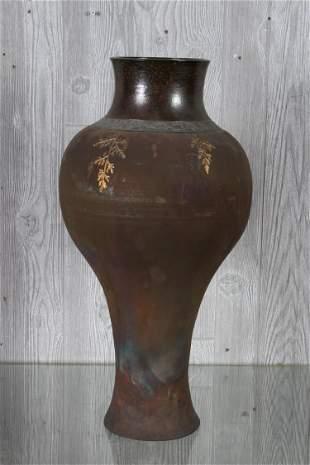 Studio Art Pottery Vase Illegibly Signed