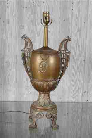 Antique Bronze Urn Form Lamp