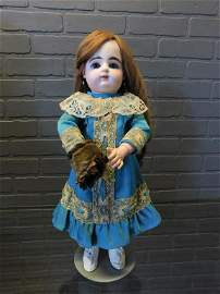 French Gaultier Bebe Bisque Head Doll