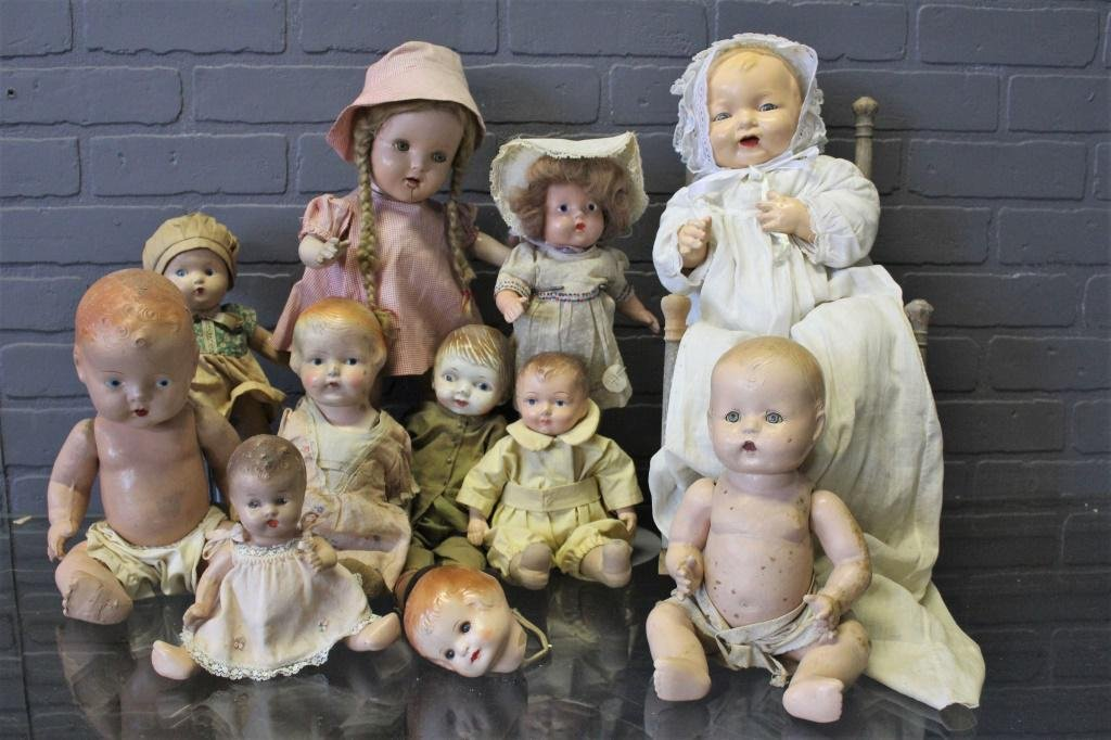Collection of Composition Dolls