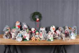 Large Grouping of Annalee Christmas Decorations