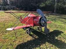 Zaer Ltd Red Baron Biplane Garden Ornament