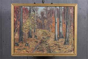 After F A Barney Landscape Painting