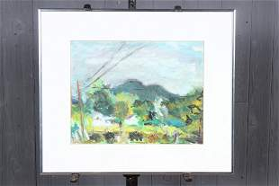 Abstract Modern Pastel Landscape