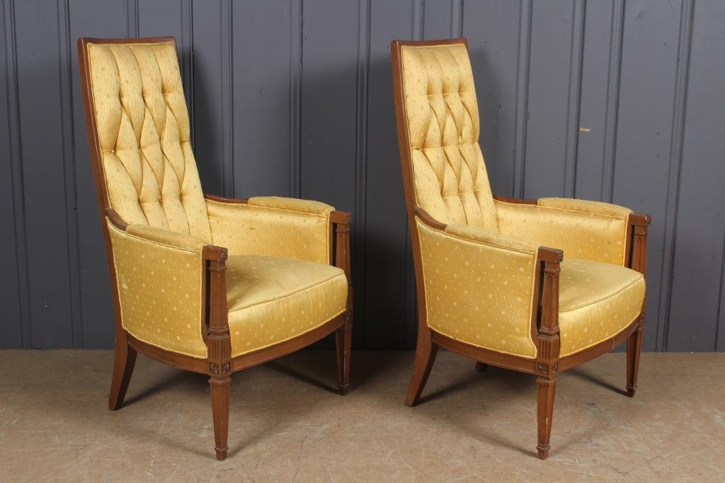 Pair Hollywood Regency Armchairs