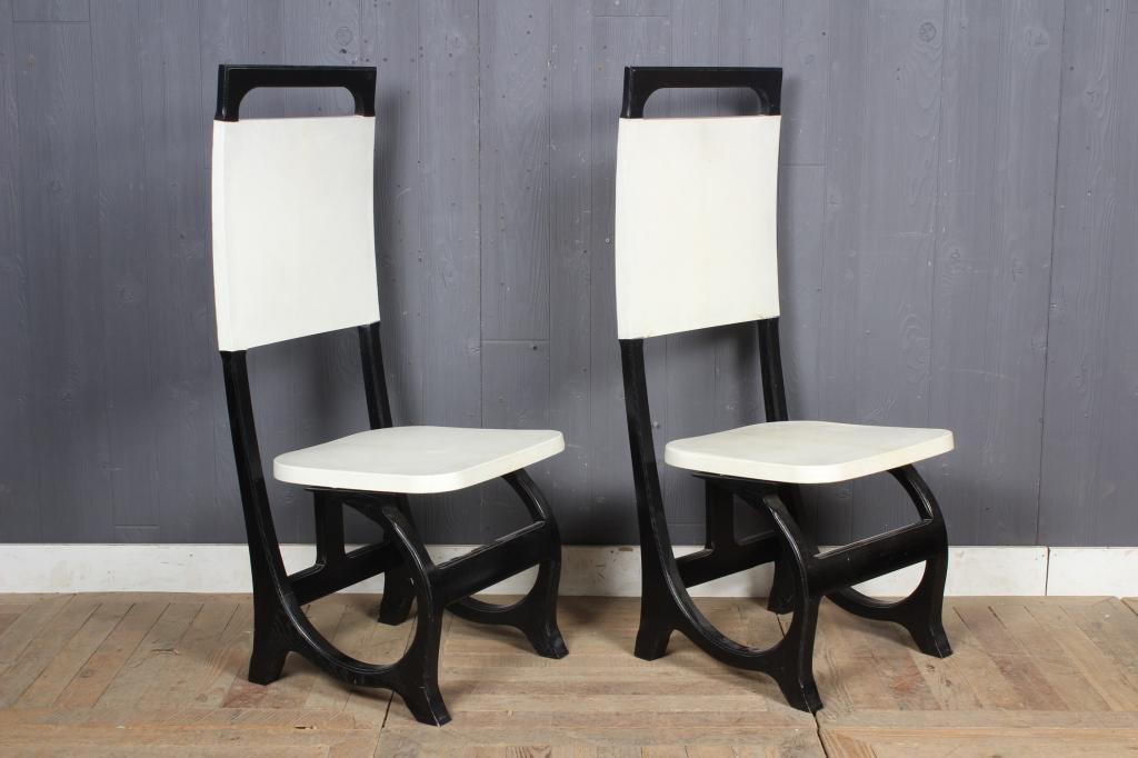 Carlo Bugatti Inspired Gutta-Percha Chairs