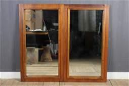 2 Mid Century Modern Mirrors from Dresser