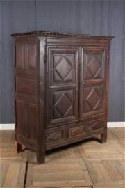 17th C Charles II Wardrobe
