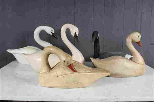 Decorator's Lot of 5 Waterfowl Carvings