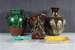 5pc Decorator's Lot of Glazed Pottery
