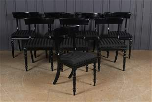 Set of 8 English William IV Dining Chairs
