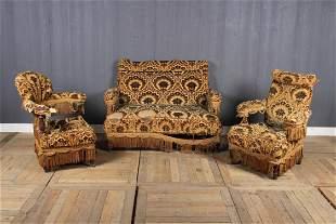 3 Piece Antique Upholstered Turkish Sofa Suite