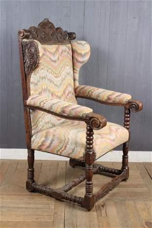 Renaissance Revival Style Throne Chair