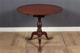 18th C Queen Anne Birdcage Tilt-top Table