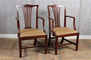 Pair Chippendale Style Armchairs