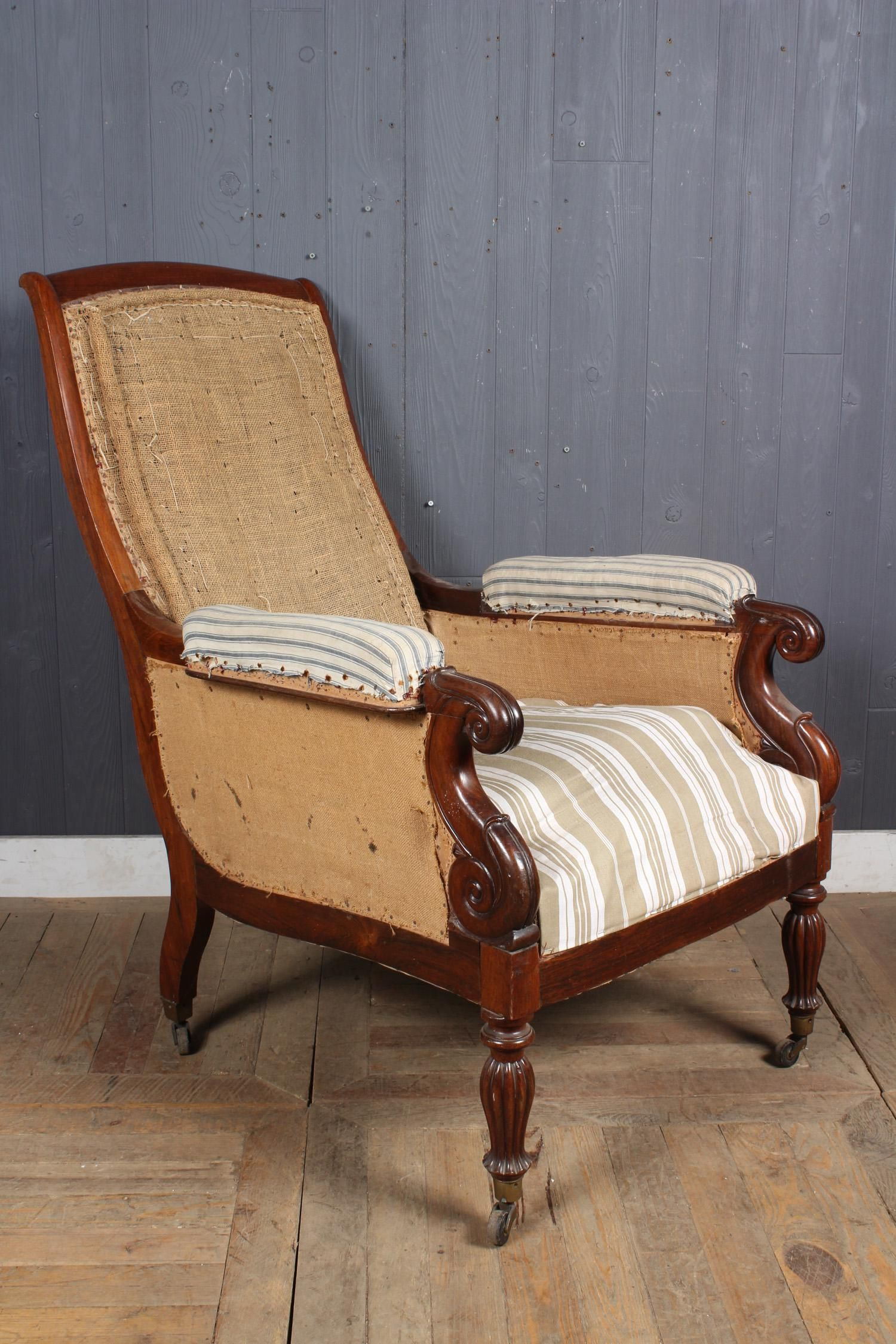 French Restoration Library Chair