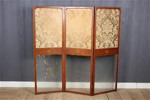 Antique Framed Glass Room Divider