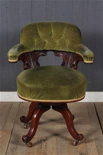 English Upholstered Parlor Chair