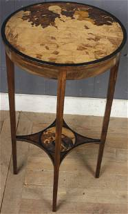 Continental Signed Marquetry Drinks Table