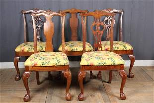 5 Chippendale Style Chairs