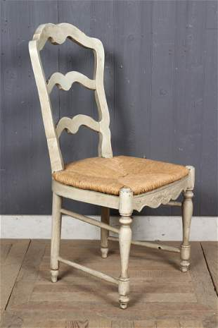 French Provincial Ladder Back Side Chair