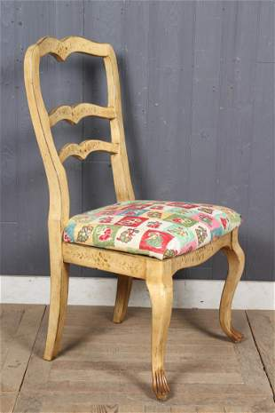 Paint Decorated Ladder Back Chair