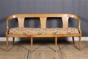 Biedermeier Settee Chinese Upholstery
