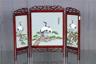 Japanese Tabletop 3Panel Screen