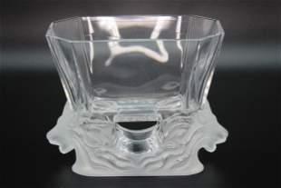 Lalique Crystal Venise Vase