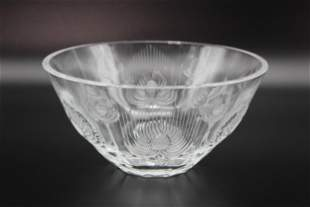 Lalique Crystal Thistle Center Bowl