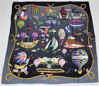 Hermes Paris Les Folies Du Ciel Silk Scarf