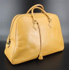 Hermes Simplon Leather Travel Bag