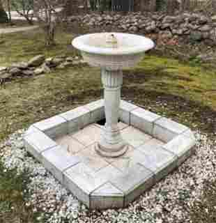 Antique 19th C Moorish Taste Marble Fountain