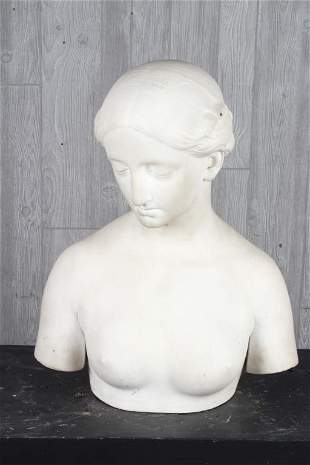 Antique 19th C Marble Bust
