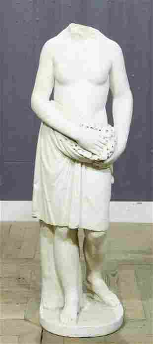 19th C Italian Carved Marble Figure