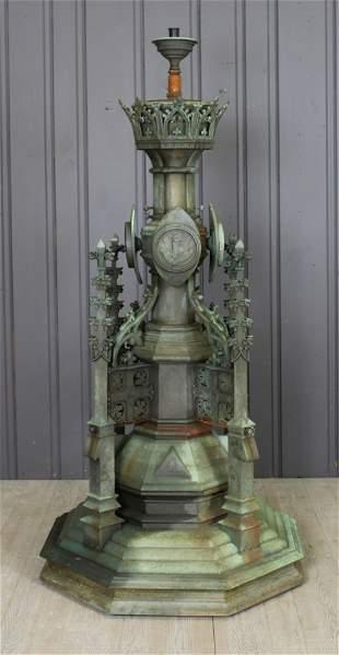 Gothic Bronze Fountain Head