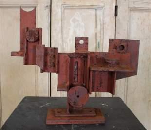 Vintage Abstract Metal Sculpture