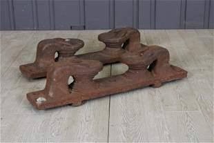 Vintage Dockside Cast Iron Mooring Cleats