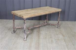Belgian Wrought Iron Bench or Low table