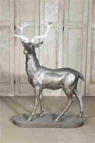 Majestic Cast Iron Stag Garden Ornament