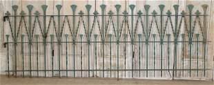 19th C Thistle Theme Fence Panels