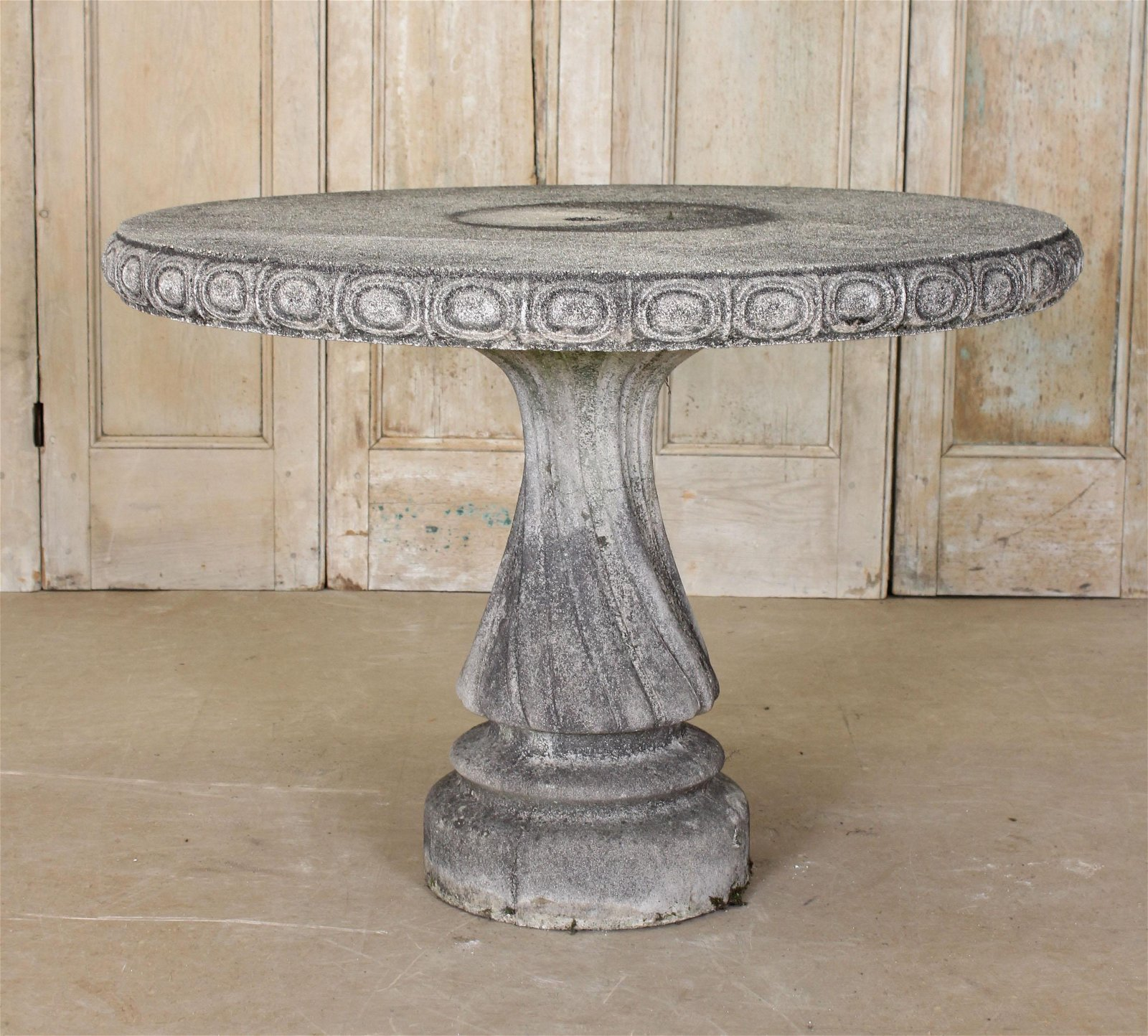 Cast Stone Twisted Balustrade Table