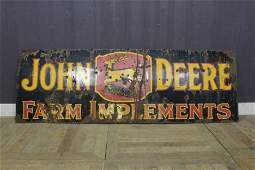 John Deere Farm Implements Porcelain Sign