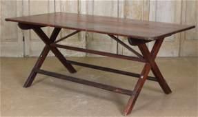 Antique Continental Sawbuck Table