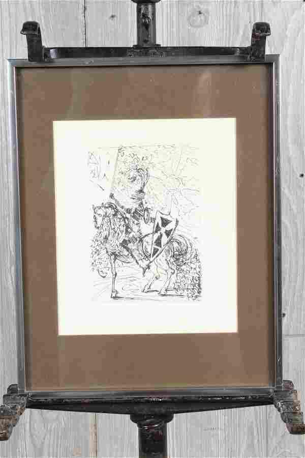 El Cid Etching by Salvador Dali